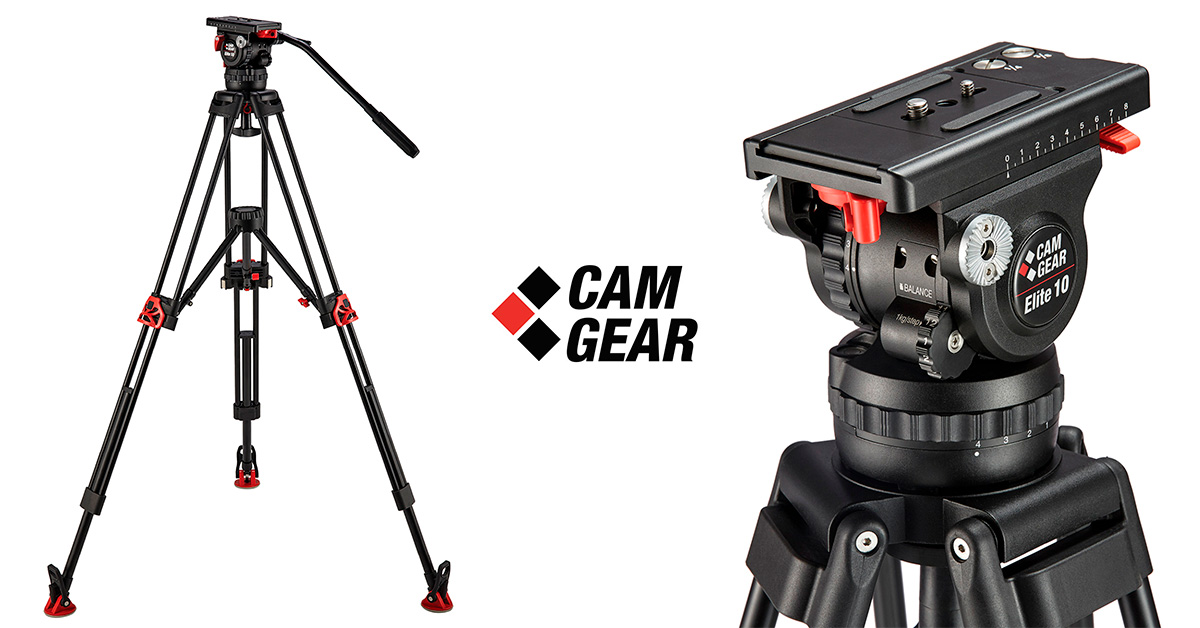 Camgear Elite 10 8 MS AL stativ tripod video fluidní hlava